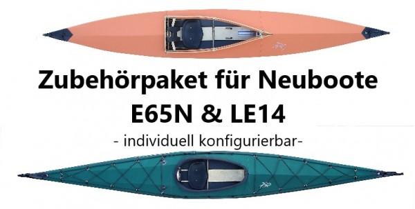 Zubehörpaket E65N und LE14 für Neuboote, konfigurierbar für Faltboot-Einer