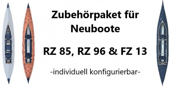 Zubehörpaket RZ85, RZ96 und FZ13 für Neuboote, konfigurierbar für Faltboot-Zweier